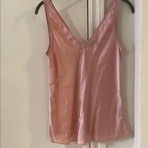 Jcrew Silk dusty rose pink cami blouse 2